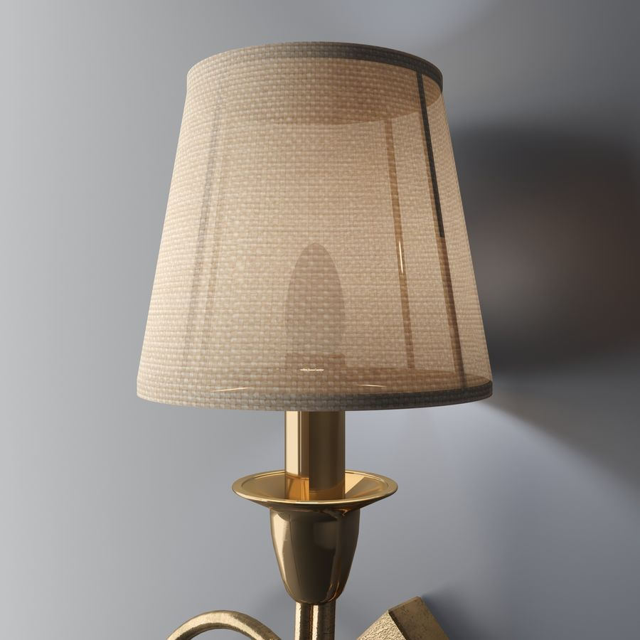 wall lighting royalty-free 3d model - Preview no. 3
