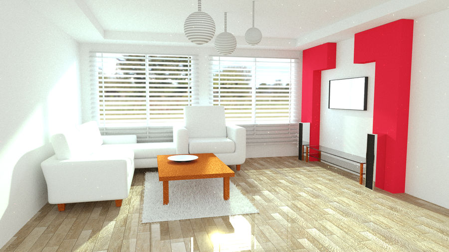 Diseño interior moderno royalty-free modelo 3d - Preview no. 1