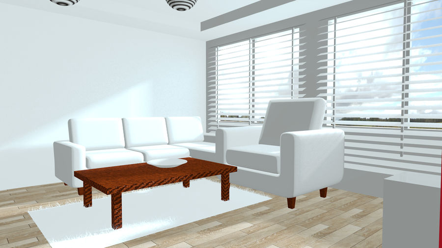 Diseño interior moderno royalty-free modelo 3d - Preview no. 3