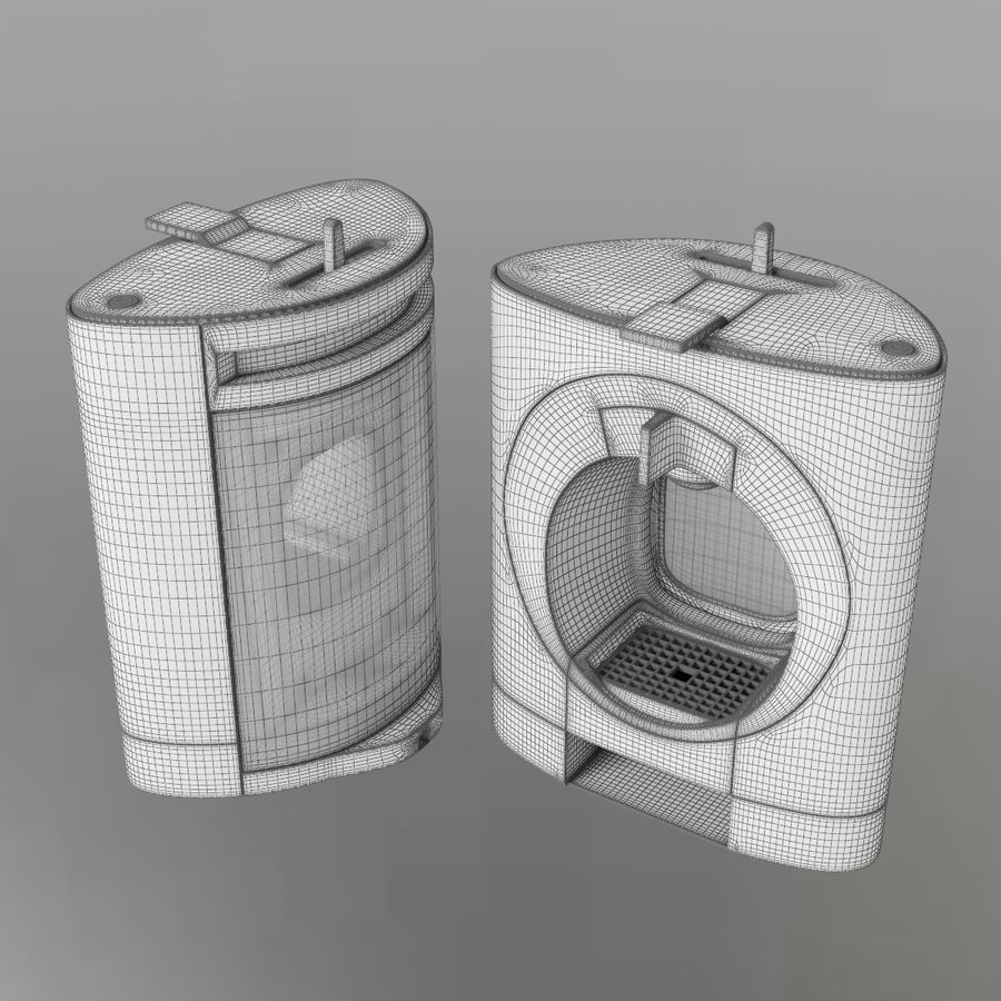 Nescafe Dolce Gusto Oblo royalty-free 3d model - Preview no. 7
