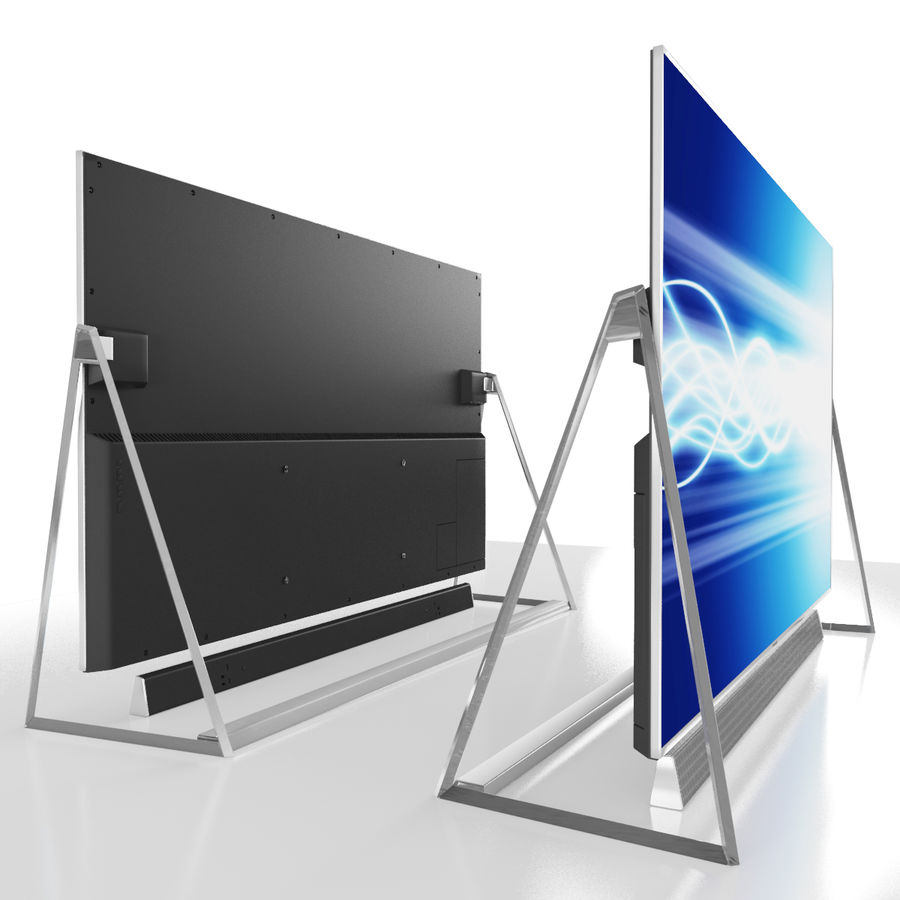 Panasonic TV TX-50DX802 royalty-free 3d model - Preview no. 5