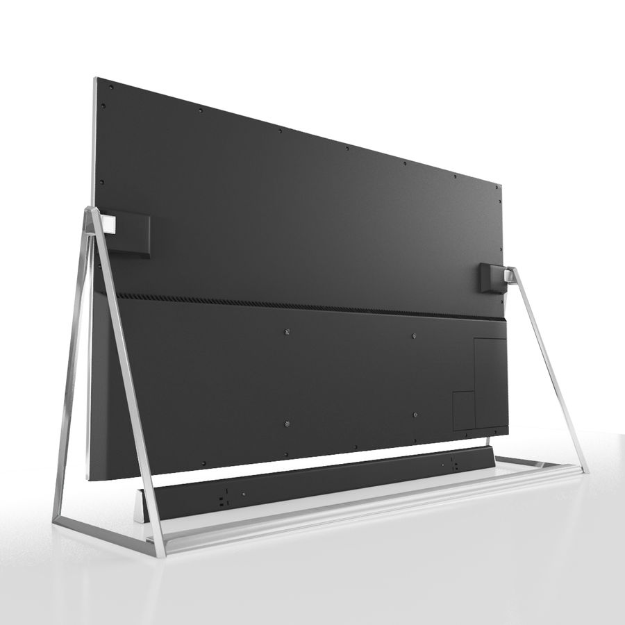 Panasonic TV TX-50DX802 royalty-free 3d model - Preview no. 4