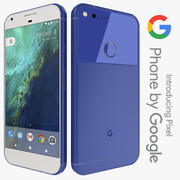 Google Pixel verkligen blå 3d model