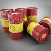 Old Shell Oil Barrel 3d model