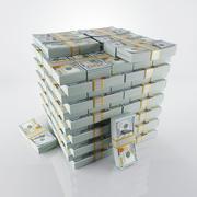现金堆 3d model