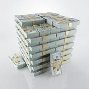 Haufen Geld 3d model
