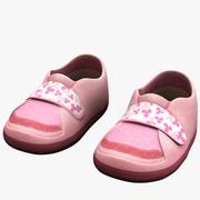 Zapatos rosados para niños modelo 3d