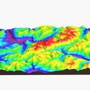 Mount Blanc landskap 3d model