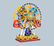 Cartoon Ferris Wheel Rigged 3d model