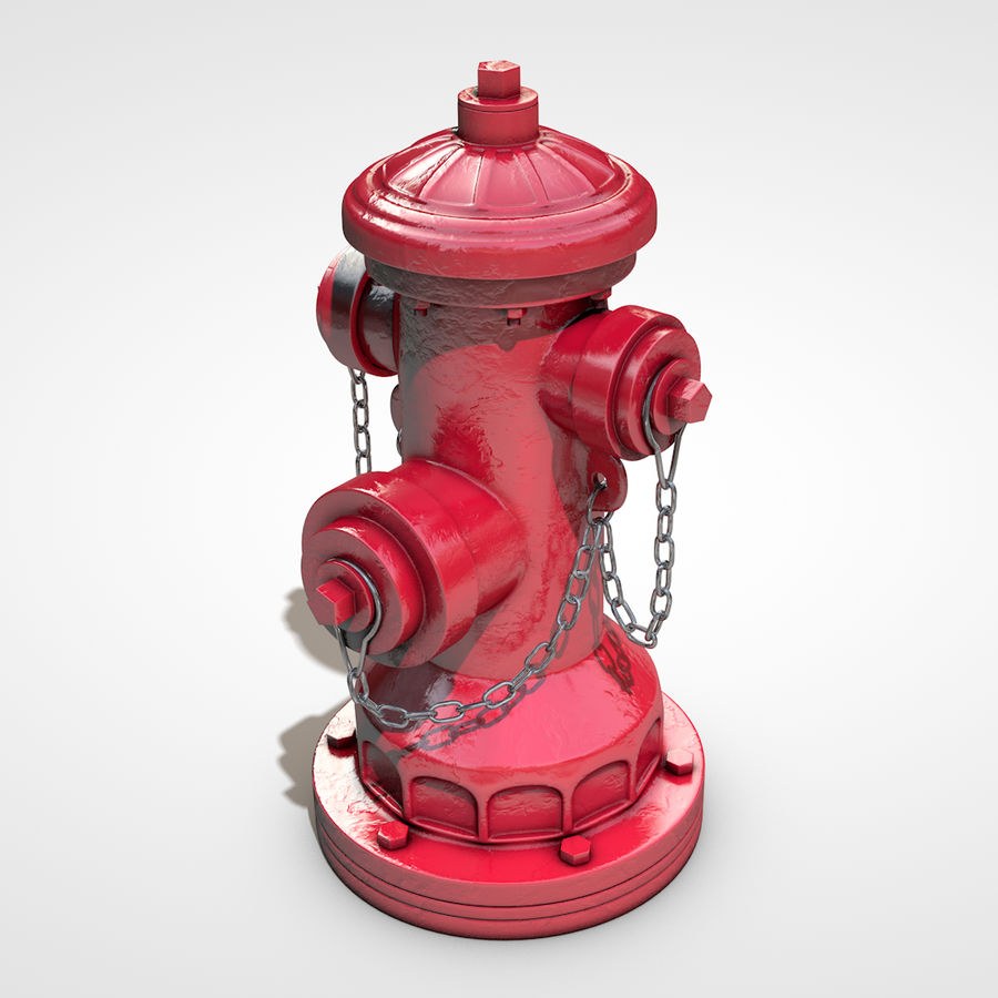 Hidrante royalty-free 3d model - Preview no. 1