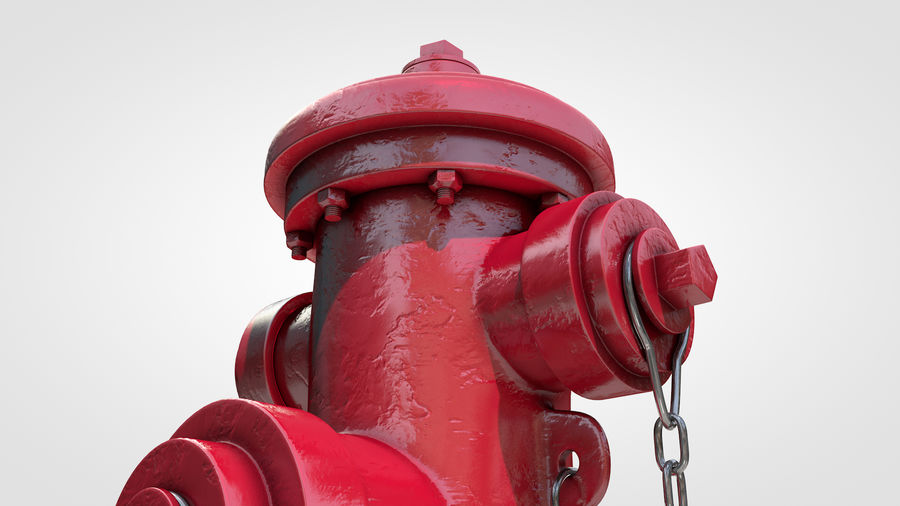 Hidrante royalty-free 3d model - Preview no. 5