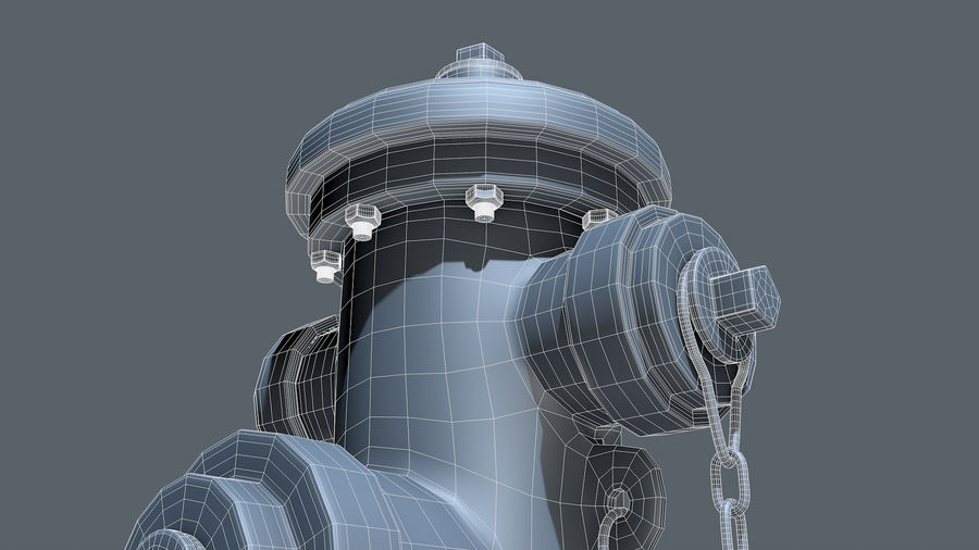 Hidrante royalty-free 3d model - Preview no. 7