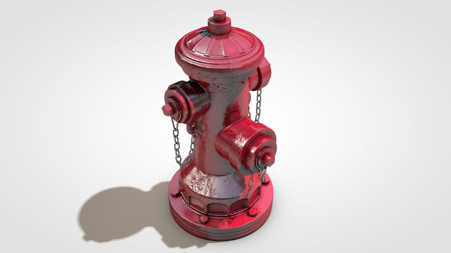 Hidrante royalty-free 3d model - Preview no. 8