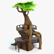 Fantasy Tree House 3d model