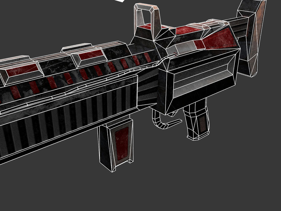 Sci-fi Rifle weapon royalty-free 3d model - Preview no. 10