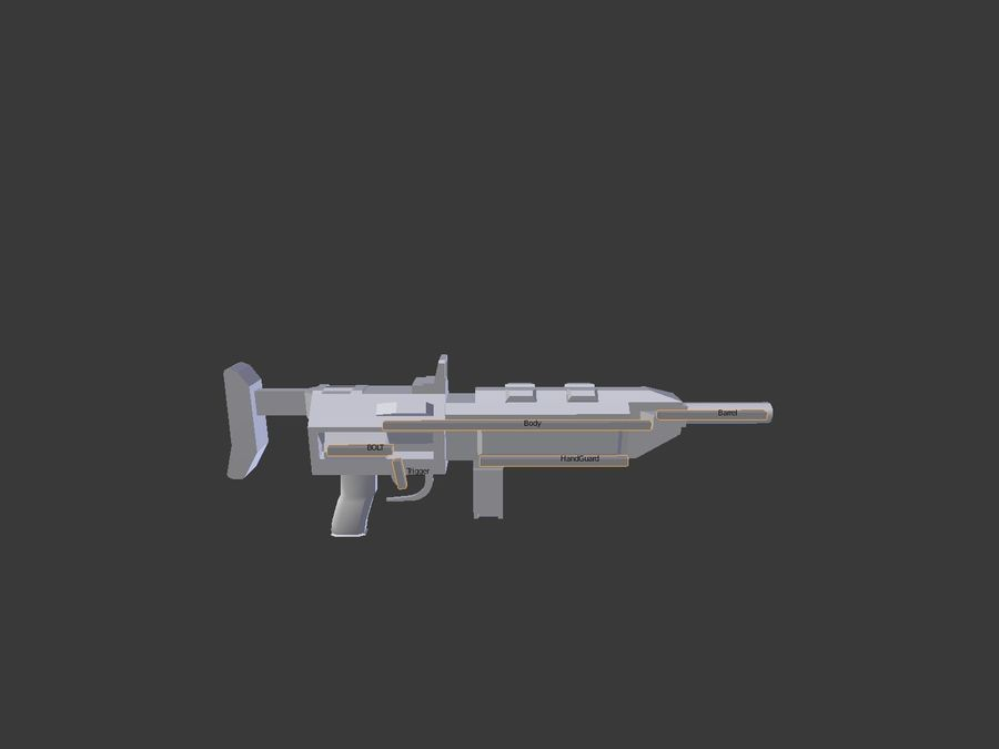 Sci-fi Rifle weapon royalty-free 3d model - Preview no. 12