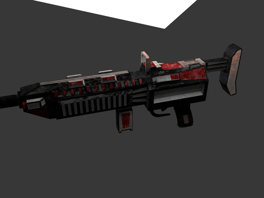 Sci-fi Rifle weapon royalty-free 3d model - Preview no. 8