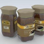 Coffe Instant Jacobs Cronat Gold 200g Jar 2017 3d model