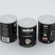 Coffe Can Lavazza Black 250g 3d model