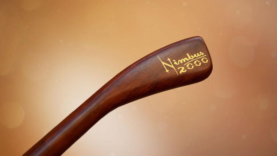Nimbus 2000 royalty-free 3d model - Preview no. 7