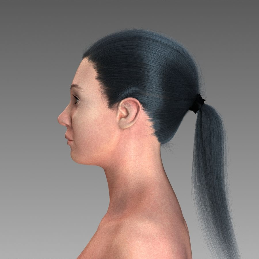 女性の身体 royalty-free 3d model - Preview no. 4