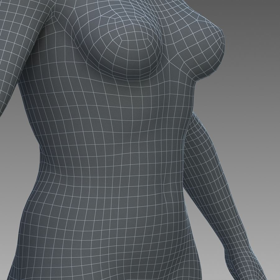 女性の身体 royalty-free 3d model - Preview no. 25