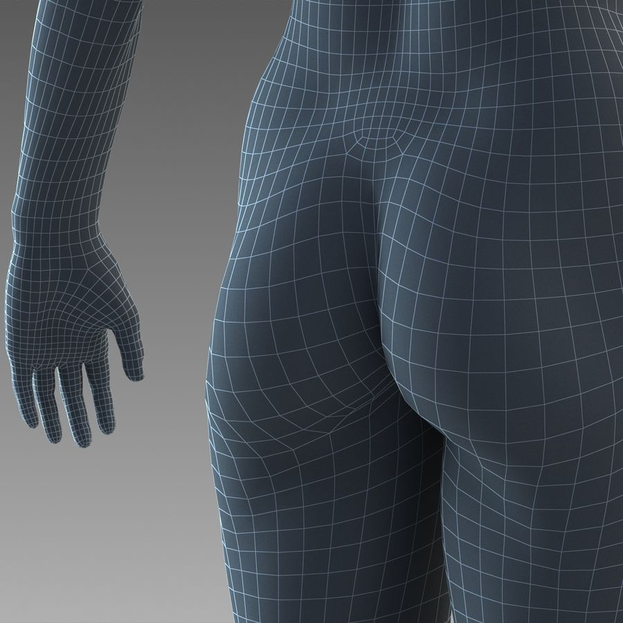 女性の身体 royalty-free 3d model - Preview no. 23