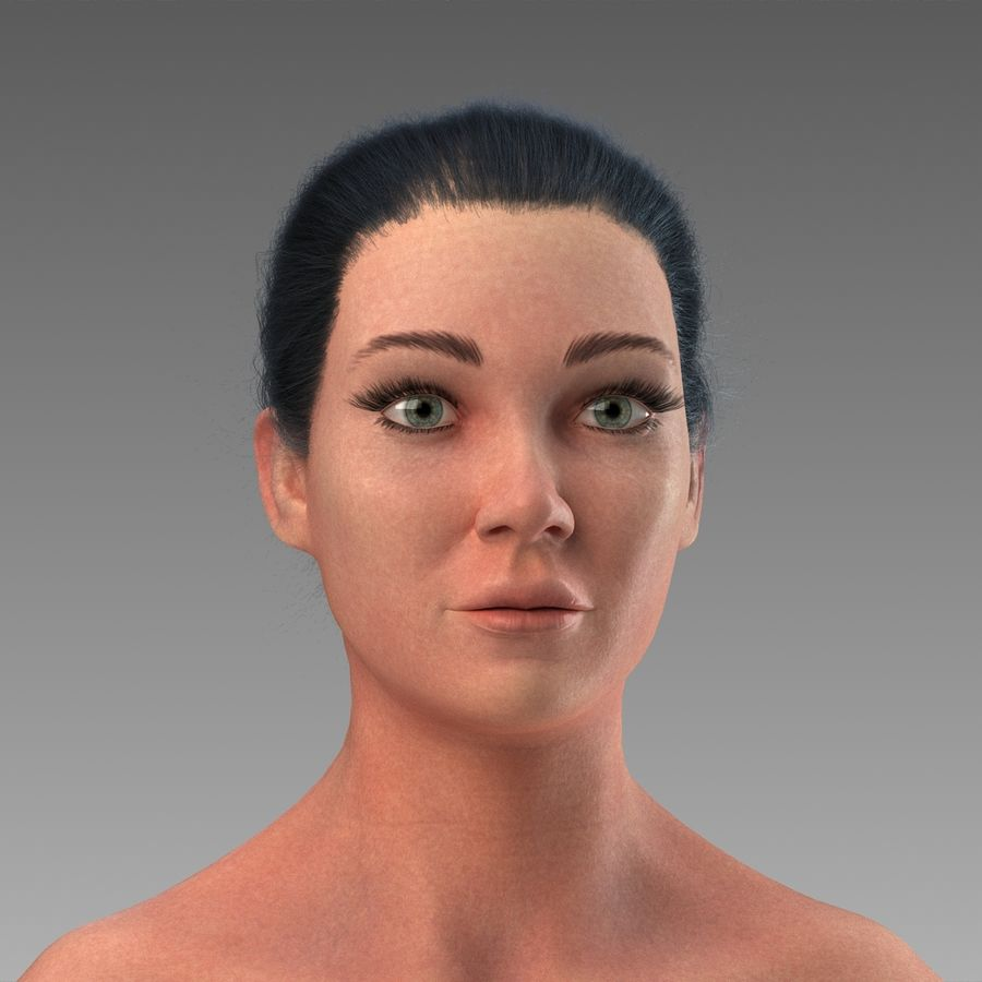女性の身体 royalty-free 3d model - Preview no. 1