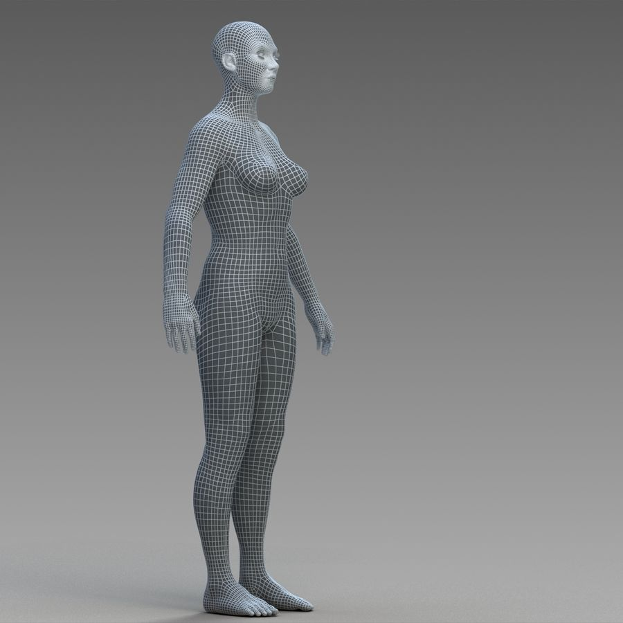 女性の身体 royalty-free 3d model - Preview no. 17