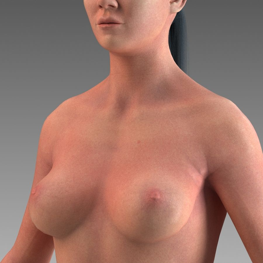 女性の身体 royalty-free 3d model - Preview no. 8