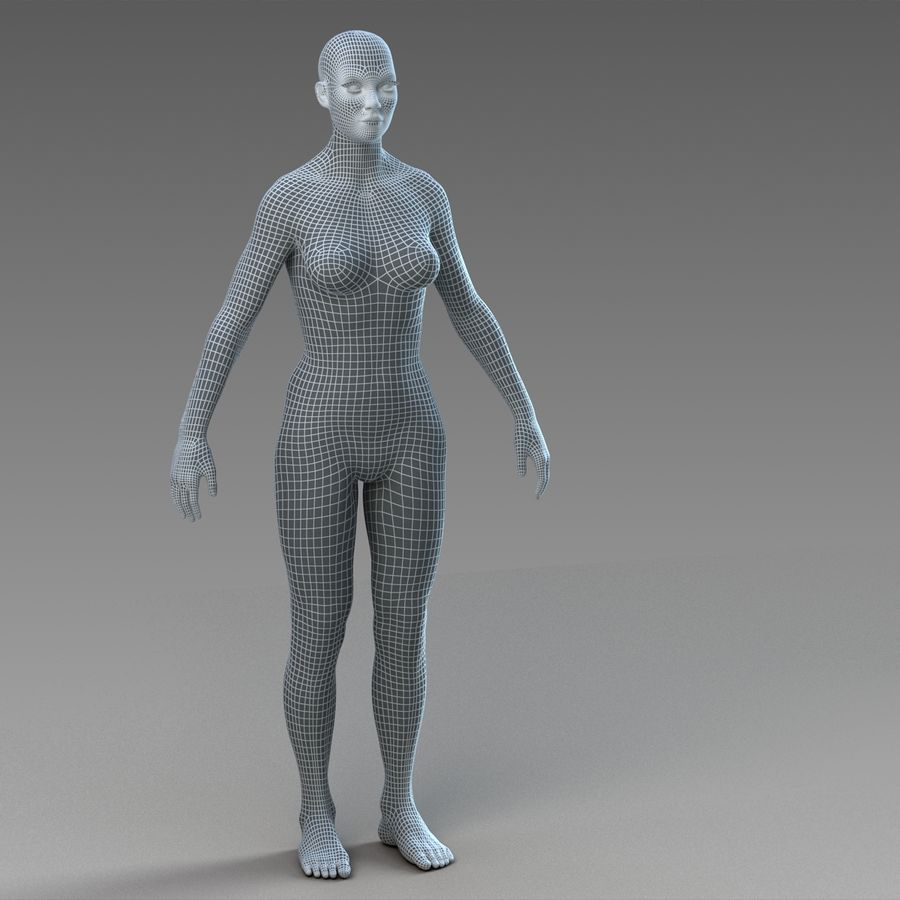 女性の身体 royalty-free 3d model - Preview no. 16