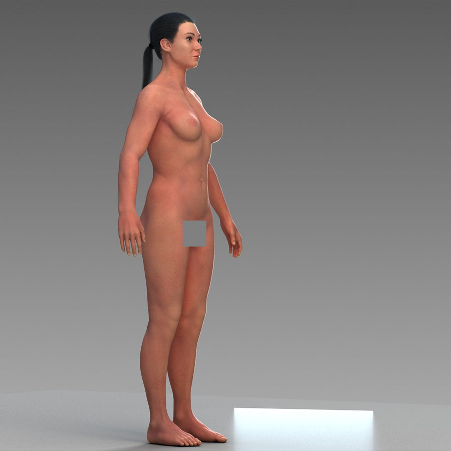 女性の身体 royalty-free 3d model - Preview no. 7