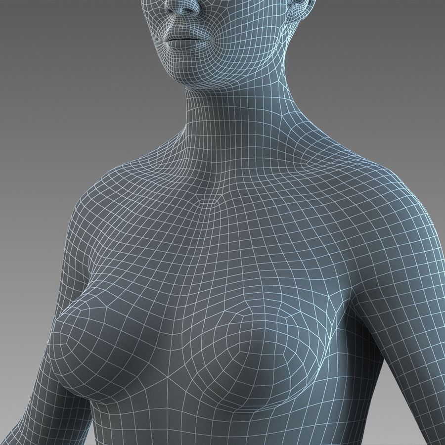 女性の身体 royalty-free 3d model - Preview no. 27