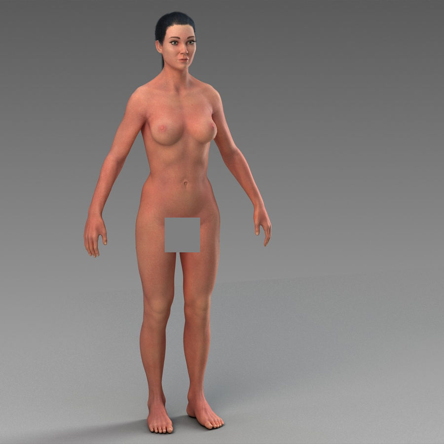 女性の身体 royalty-free 3d model - Preview no. 6
