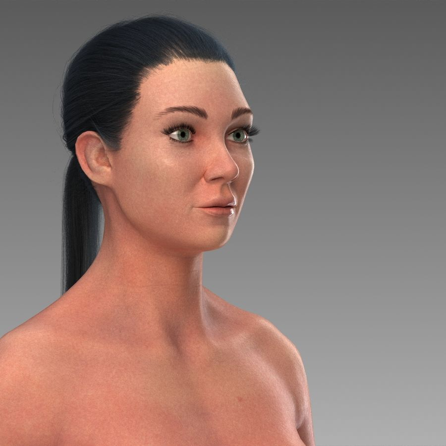 女性の身体 royalty-free 3d model - Preview no. 2