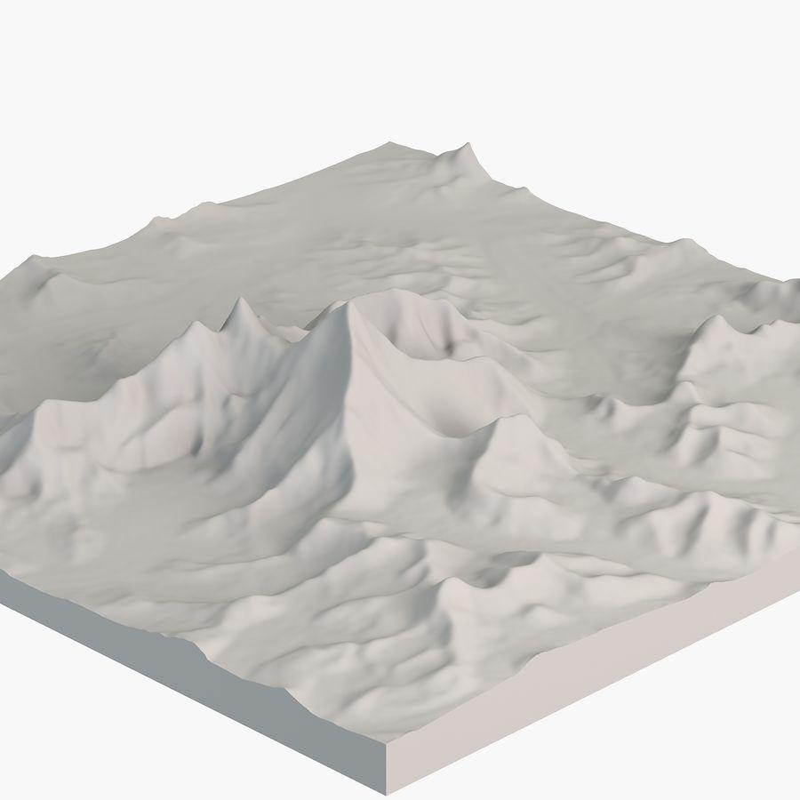 エベレストトポロジーのマウント royalty-free 3d model - Preview no. 4