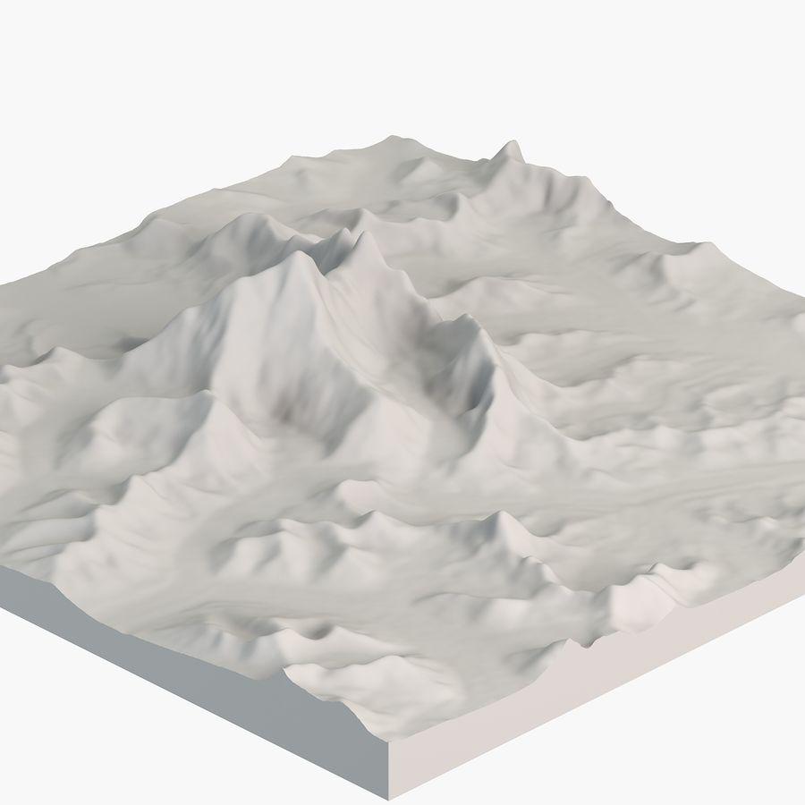 エベレストトポロジーのマウント royalty-free 3d model - Preview no. 2