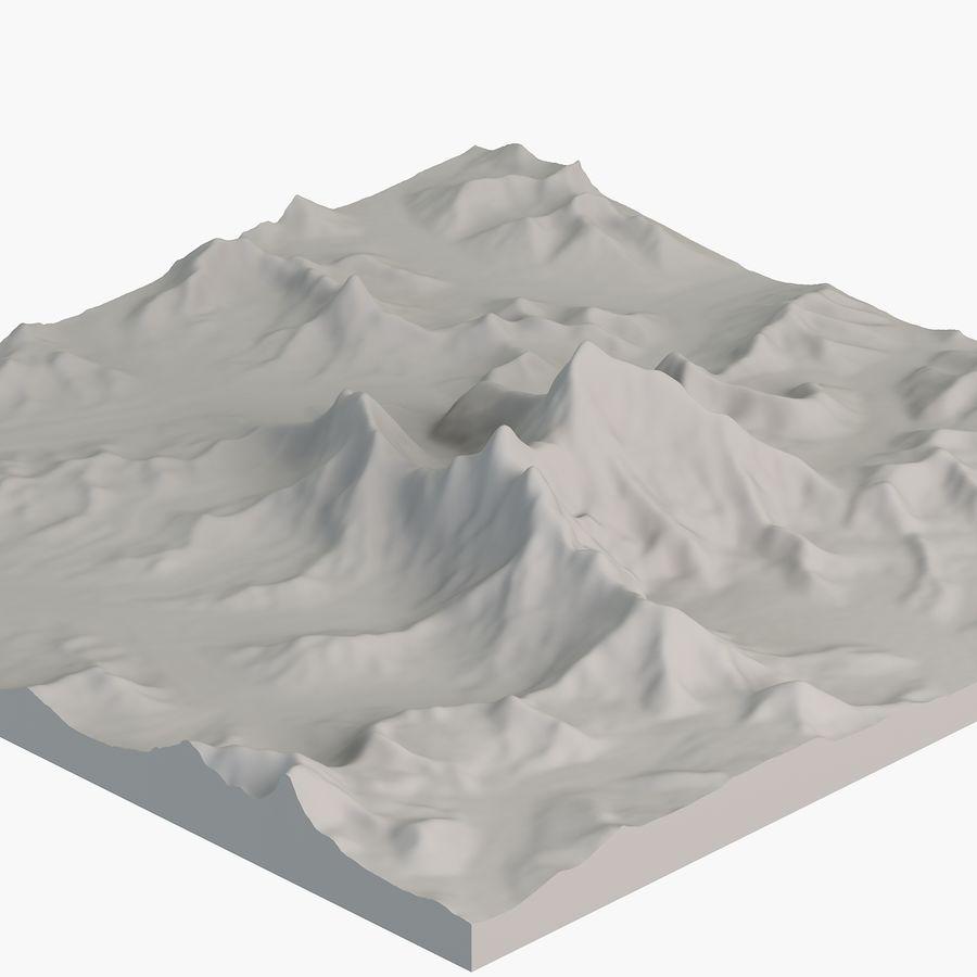エベレストトポロジーのマウント royalty-free 3d model - Preview no. 6