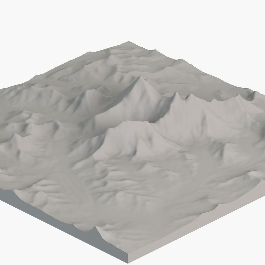 エベレストトポロジーのマウント royalty-free 3d model - Preview no. 8