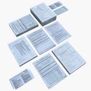 Оформление документов и документов 3d model