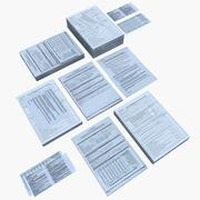 Paperwork And Documents 3d model