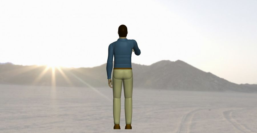 Mannequin man 1 royalty-free 3d model - Preview no. 4