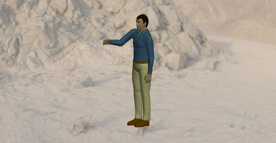 Mannequin man 1 royalty-free 3d model - Preview no. 3