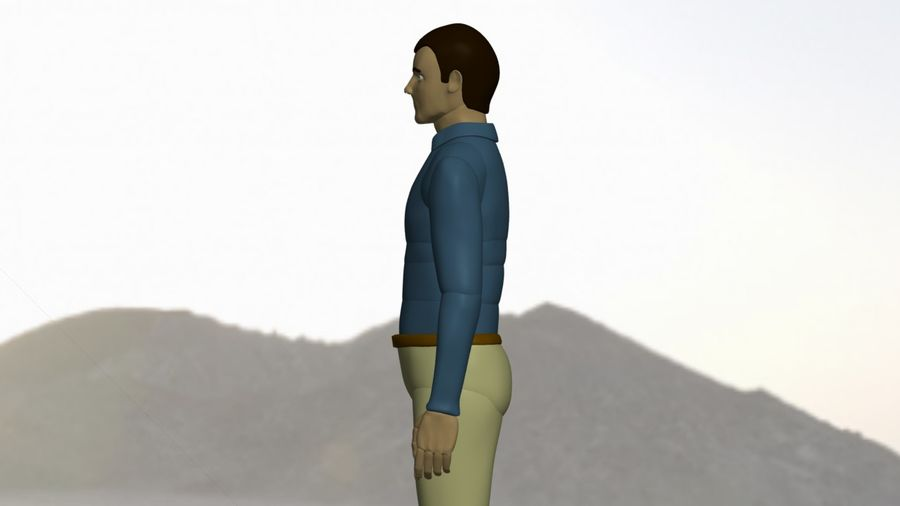 Mannequin man 2 royalty-free 3d model - Preview no. 2