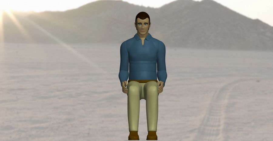 Mannequin man 3 royalty-free 3d model - Preview no. 3