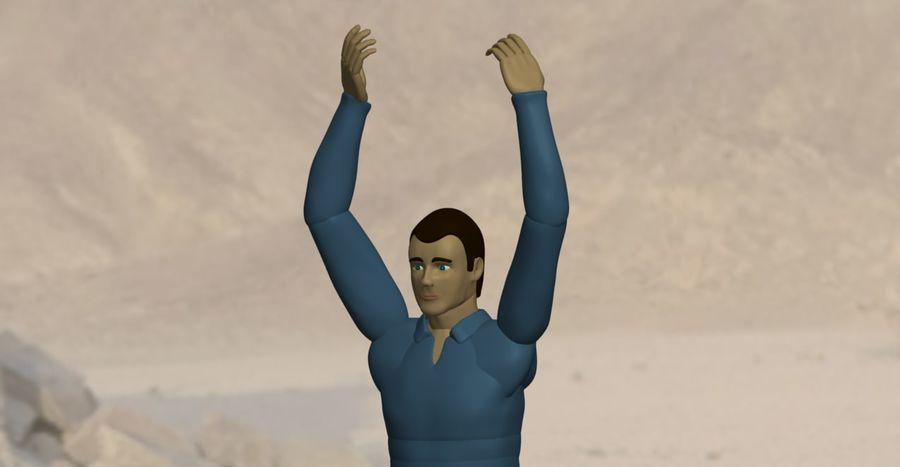 Homem manequim 6 royalty-free 3d model - Preview no. 3