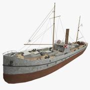Stoomschip Albatros 3d model