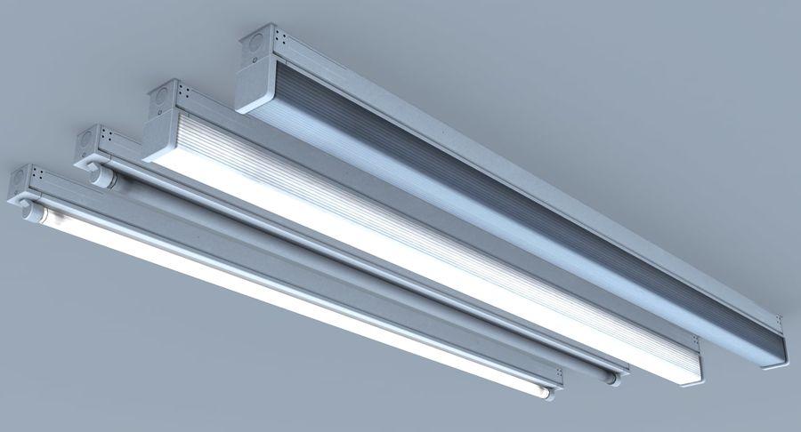 Fluoreszierende Deckenleuchte royalty-free 3d model - Preview no. 8