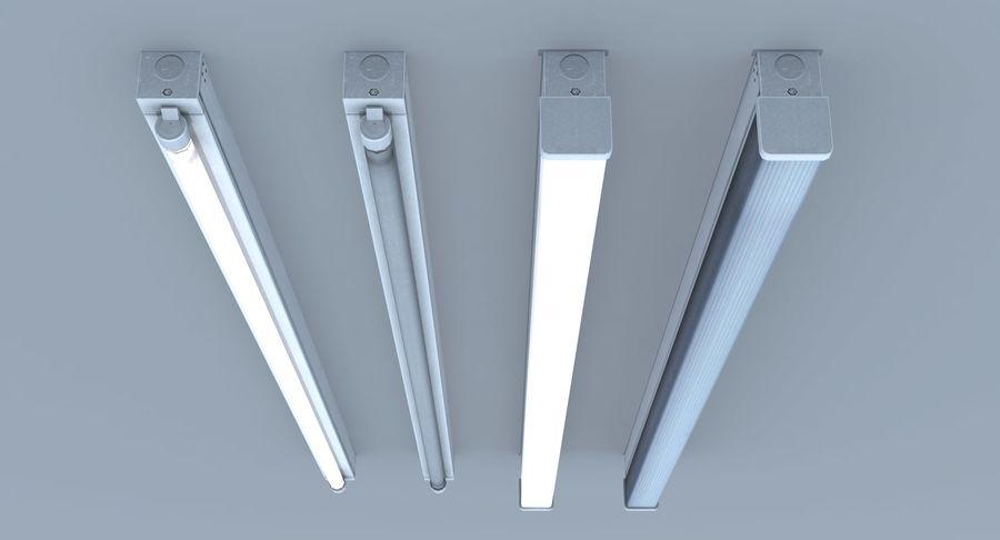 Fluoreszierende Deckenleuchte royalty-free 3d model - Preview no. 7