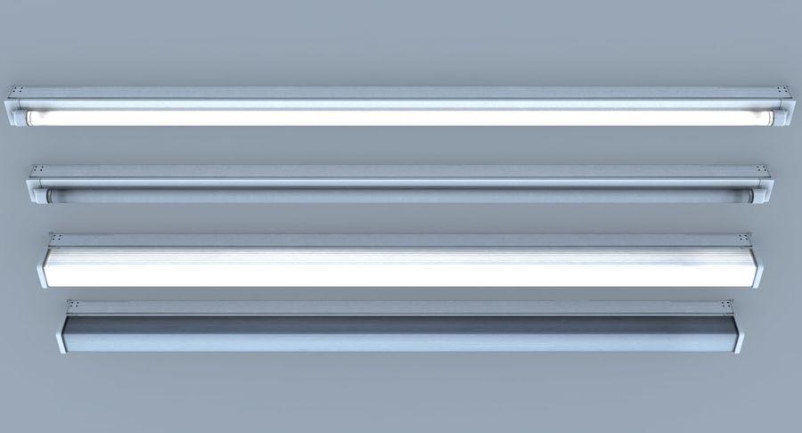Fluoreszierende Deckenleuchte royalty-free 3d model - Preview no. 6